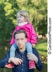 portrait of father with daughter