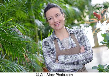 portrait of female gardener smiling