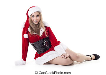 Portrait Of Female Santa Claus