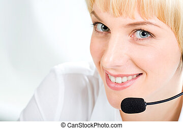 Customer Support Representative - Portrait of friendly...