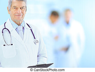 Portrait of friendly male doctor sm