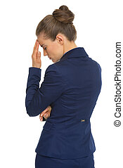 Portrait of frustrated business woman