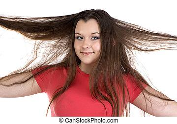 Portrait of funny teenage girl