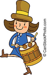 Portrait of girl playing drum