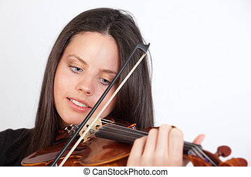 Portrait of girl playing the violin