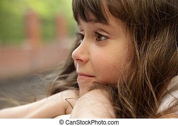 Portrait of girl - Portrait of brunette small girl
