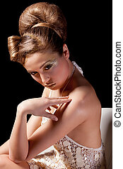 Portrait of glamour beautiful young woman