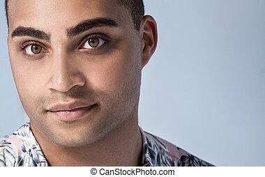 Portrait of handsome african american man.