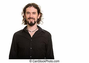 Portrait of handsome Caucasian man smiling