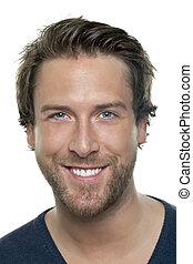 handsome smiling man - Portrait of handsome smiling man ...