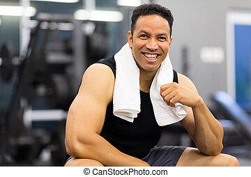sportive man in gym