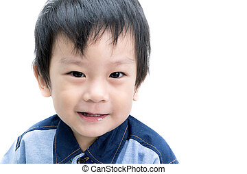 Portrait of Happy Asian child