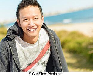 Portrait Of Happy Asian Man