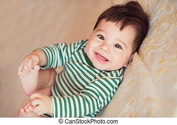Portrait of happy beautiful baby