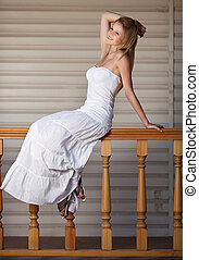 portrait of happy beautiful woman