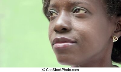 Portrait of happy black woman