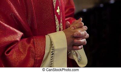 Portrait of happy catholic priest