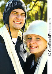 Portrait Of Happy Caucasian Couple