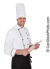 Portrait of happy chef