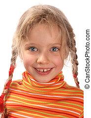 Portrait of happy child .
