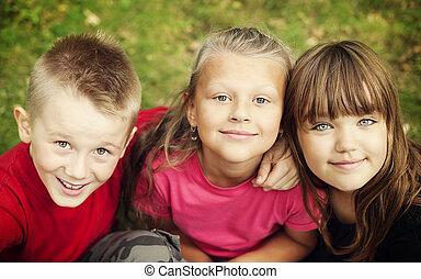 Portrait of happy children