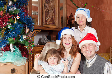 family at home together during Christmas