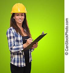 Portrait Of Happy Female Architect