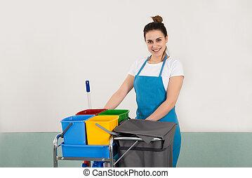 Portrait Of Happy Female Janitor