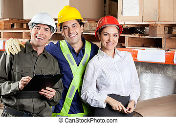 Portrait of Happy Foreman With Supervisors