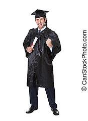Portrait of happy graduate student