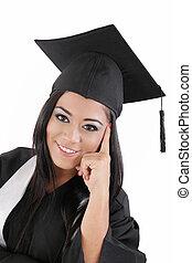 Portrait of happy graduation woman
