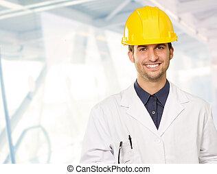 Portrait Of Happy Male Architect