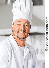 Portrait Of Happy Male Chef