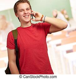 portrait of happy man smiling