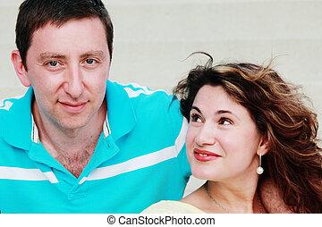 Portrait of happy mature couple outdoors