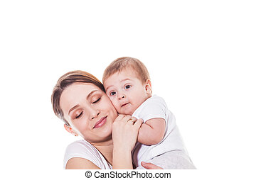 Portrait of happy mother and child