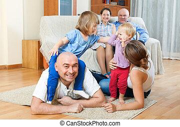 Portrait of happy multigeneration