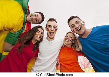 Portrait of happy multinational people