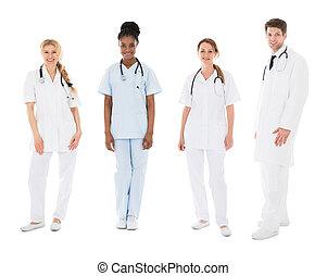 Portrait Of Happy Multiracial Medical Team