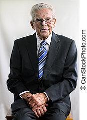 Portrait of happy old man