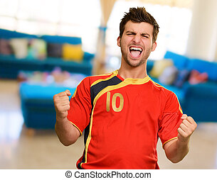 Portrait Of Happy Player