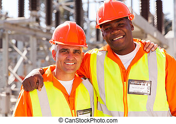 power company electrical co-workers