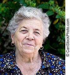 Portrait of happy senior lady - Portrait of happy and...