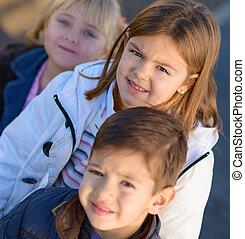 Portrait Of Happy Small Children