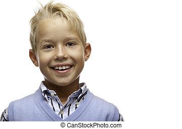 Portrait of happy smiling child (boy)