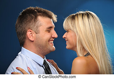 Portrait of happy_78 - Portrait of happy newlyweds with a...
