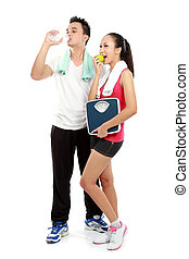 Portrait of healthy couple