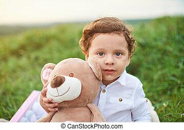 Portrait of hispanic boy kid