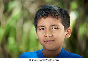 Portrait of hispanic boy