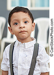 Portrait of hispanic boy